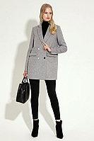 Женское осеннее драповое серое деловое пальто Prio 5870z серый 42р.