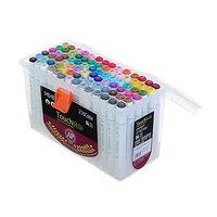 Набор маркеров Superior, профессиональные, двусторонние, наконечник мягкая кисть, 84 штуки, 84 цвета, MS-837