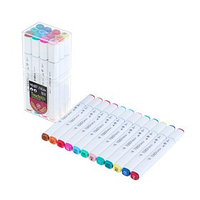 Набор маркеров Superior, профессиональные, двусторонние, наконечник мягкая кисть, 12 штук, 12 цветов, MS-837