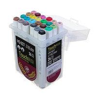 Набор маркеров Superior, профессиональные, двусторонние, наконечник мягкая кисть, 24 штуки, 24 цвета, MS-837