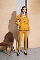 Женские осенние желтые брюки BURVIN 7019-11 40р.