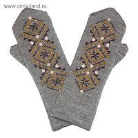 Варежки женские М10 цвет серый, р-р 18