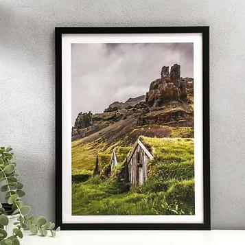 """Постер пластик """"Домик в горах"""" 30х40 см"""