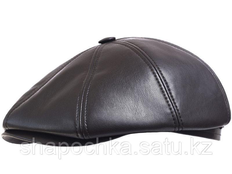 Кепка Starkoff  8-кл кожзам коричневый