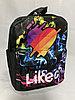Детский рюкзак для девочек,3-4 года.Высота 26 см,ширина 18 см,глубина 9 см.