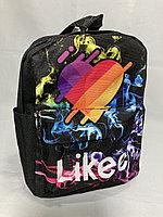 Детский рюкзак для девочек,3-4 года.Высота 26 см,ширина 18 см,глубина 9 см., фото 1