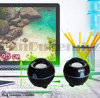 Компьютерные колонки акустические стерео сферичные Kisonli S-999 черно-серые