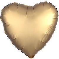 Шар фольгированный 18' 'Сердце', сатин люкс, цвет золотой