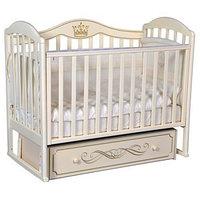 Кроватка 'Кедр' Emily-3, универсальный маятник, ящик, цвет слоновая кость