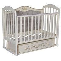 Кроватка 'Кедр' Emily-4, универсальный маятник, ящик, цвет слоновая кость