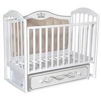 Кроватка 'Кедр' Emily-4, универсальный маятник, ящик, цвет белый