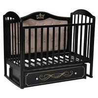 Кроватка 'Кедр' Emily-4, универсальный маятник, ящик, цвет шоколад