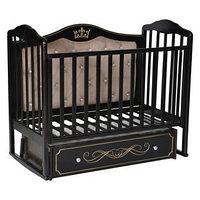 Кроватка 'Кедр' Helen-7, мягкая спинка, ящик, цвет шоколад