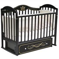 Кроватка 'Кедр' Emily-3, универсальный маятник, ящик, цвет шоколад