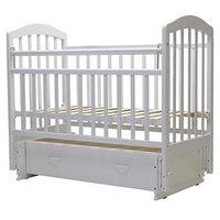 Кроватка детская 'Лира-7', универсальный маятник, ящик, размер 119 х 60 см белый