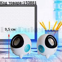 Компьютерные колонки акустические стерео сферичные Kisonli K800 бело-черные