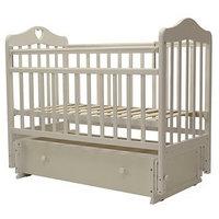 Кроватка детская 'Оливия-7', универсальный маятник, ящик, размер 119 х 60 см, слоновая кость