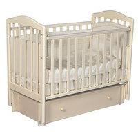 Кроватка детская Helen 3, автостенка, универсальный маятник, закрытый ящик, цвет слоновая кость