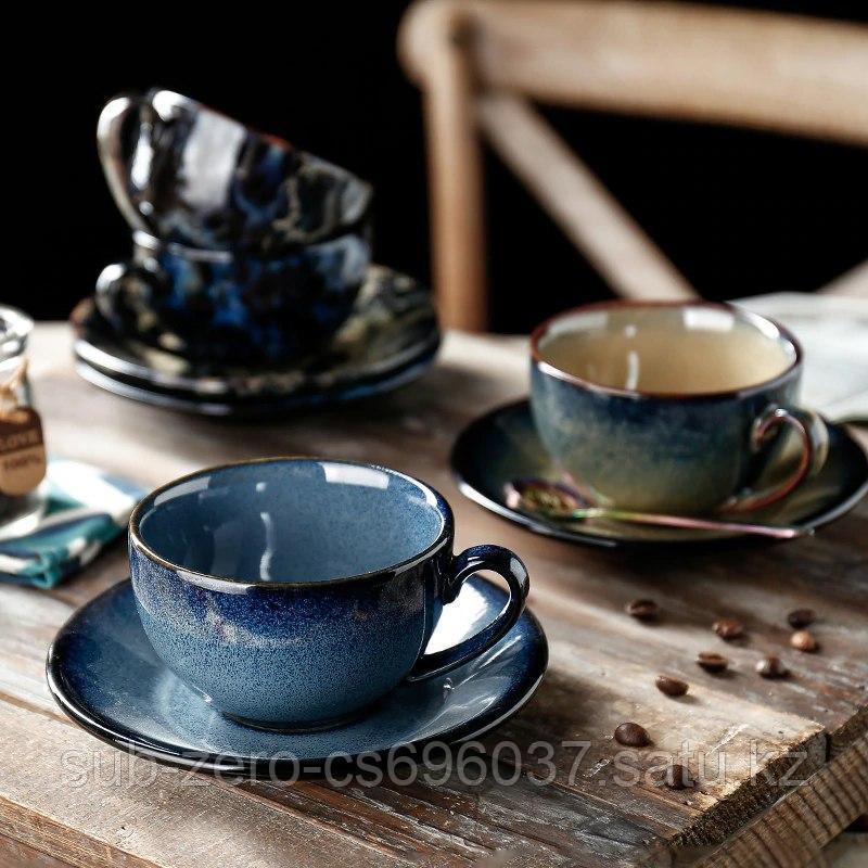 Элегантная керамическая чайная пара