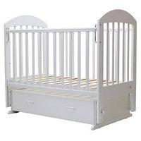 Кроватка детская 'Дарина-6', маятник, ящик, размер 120 х 60 см, белый