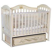 Кроватка 'Кедр' Emily-2, универсальный маятник, ящик, цвет слоновая кость