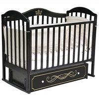 Кроватка 'Кедр' Emily-2, универсальный маятник, ящик, цвет шоколад