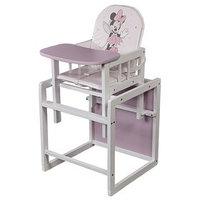 Стул детский трансформируемый Polini kids Disney baby 255 'Минни Маус', белый-розовый