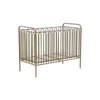 Детская кроватка Polini kids Vintage 150 металлическая, цвет бронзовый