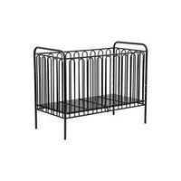 Детская кроватка Polini kids Vintage 150 металлическая, цвет чёрный