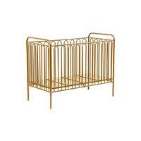 Детская кроватка Polini kids Vintage 150 металлическая, цвет золотистый