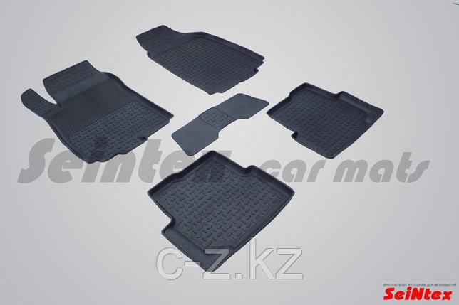 Резиновые коврики с высоким бортом для Chevrolet Aveo II 2011-н.в., фото 2