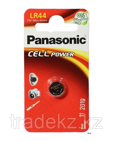 Батарейка дисковая литиевая PANASONIC LR-44/1B, фото 2
