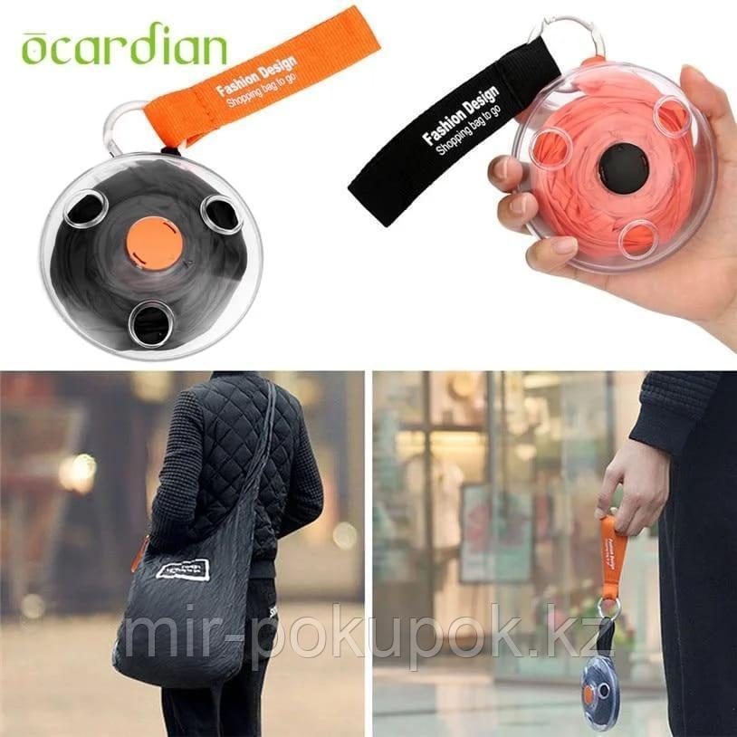 Складная компактная сумка-шоппер с карабином Shopping bag to roll up