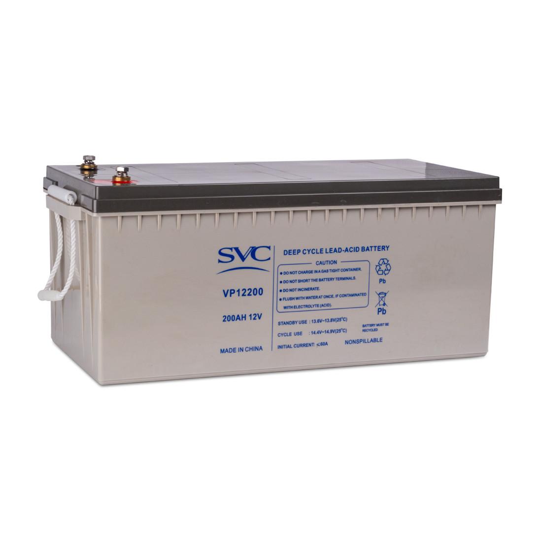 Батарея свинцово-кислотная SVC VP12200 (12В, 200 Ач)