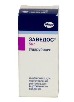 Заведос (Zavedos) Идарубицин (Idarubicin) 5 мг