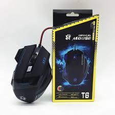 Мышь проводная T6 optical mouse