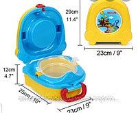 Портативный складной детский горшок-чемоданчик, фото 2