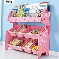 Детский стеллаж для хранения игрушек олененок/розовый, фото 1