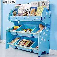 Детский стеллаж для хранения игрушек олененок/синий, фото 1