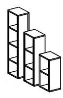 Стеллаж для игрушек и пособий на 3 ячейки ЛЕСЕНКА (400х400х1100 мм) арт. СТЛ1/1