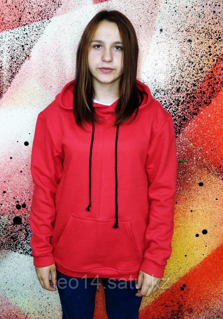 Худи Unisex, цвет: Красный, 100% Х\Б, р-р: 44(XS)