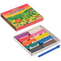 Пластилин ЗХК 10цв. 200гр. Цветик классический +стек карт.уп. арт.3241466