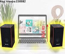 Компьютерные колонки акустические стерео деревянный корпус Multimedia speaker Kisonli T-003