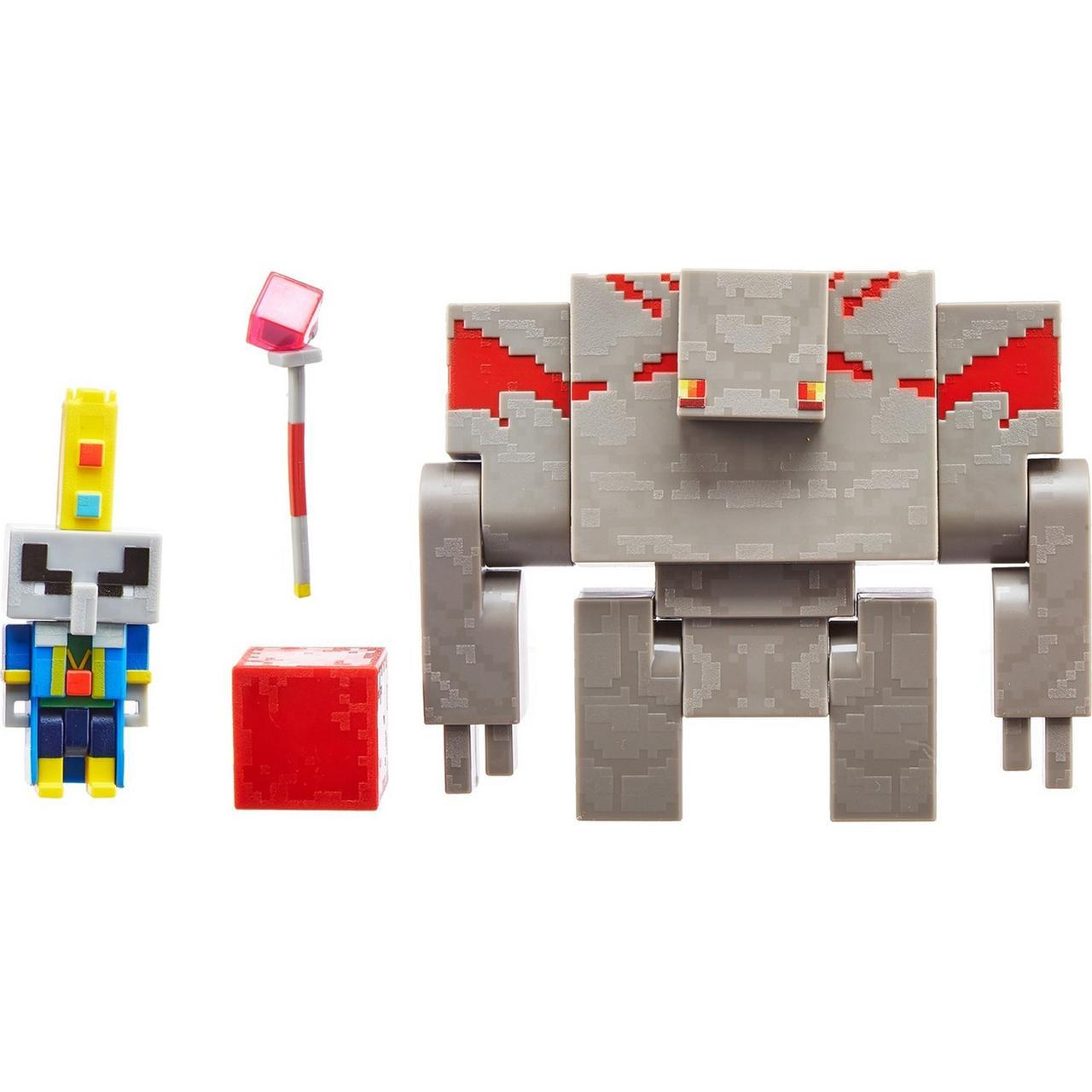 """Minecraft Набор Фигурок Майнкрафт Подземелье """"Красный голем и Архи-Зловред"""", 8 см"""