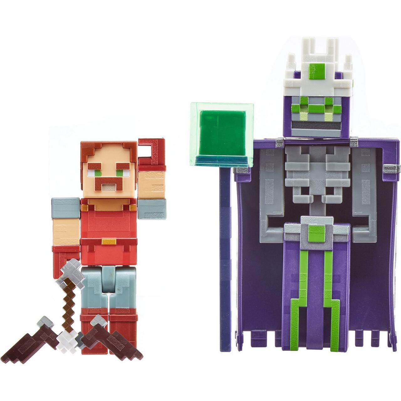"""Minecraft Набор Фигурок Майнкрафт Подземелье """"Безымянный и Хэл"""", 8 см"""