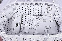 Набор детского постельного белья из 17 предметов (для кроватки-манежа), расцветки уточняем