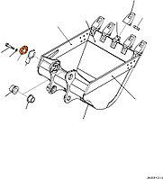 Крышка 208-70-34240 для экскаватора Komatsu PC400