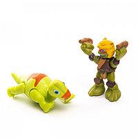 """Черепашки ниндзя """"Pre Cool"""" Дино Майк с Брахиозавром, 6,5 см."""