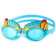 Очки  шапка для плавания детские  супер пловец, фото 4