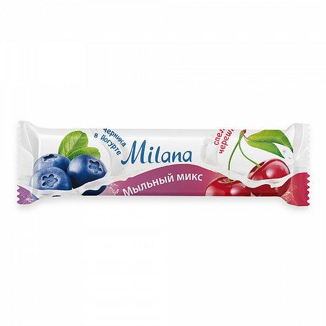 Мыло туалетное Milana мыльный микс черника в йогурте & спелая черешня, фото 2